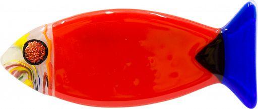 Glasfisch 15cm - rot