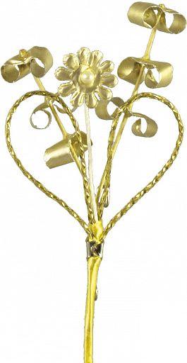 Myrtenstrauß Goldene Konfirmation, Anstecknadel zur Goldhochzeit