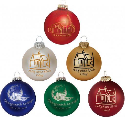 Individuelle Christbaumkugeln, einseitig bedruckte Weihnachtskugeln
