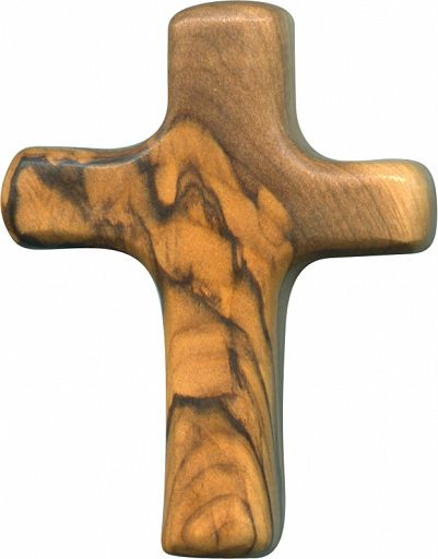 Olivenholzkreuz, klassisch, klein