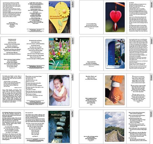 Sortiment Birnbacher Faltkarten, 10 Karten