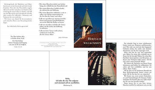 Grußkarte - Herzlich willkommen (evangelisch)
