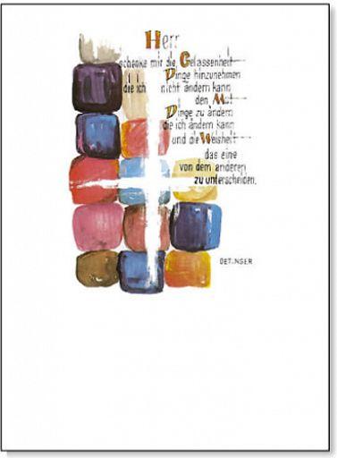 Schmuckschein, Einlegeblatt Gelassenheitsgebet