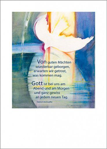 """Schmuckschein """"Von Guten Mächten"""", Kunstmotiv"""