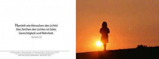 Bibelspruchkarte: Menschen des Lichts