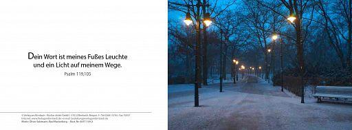 Bibelspruchkarte: Winterweg Psalm 119,105