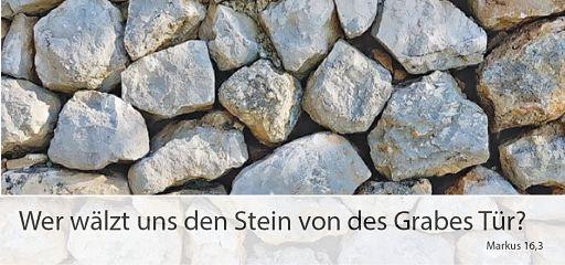 """Falzkarte Ostersegen """"Wer wälzt uns den Stein ..."""""""