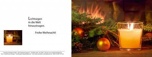 Weihnachtskarte: Lichtsegen