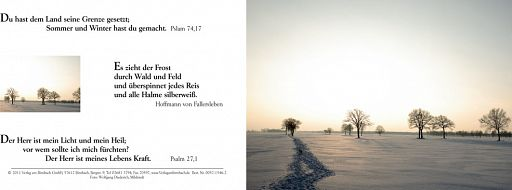 Bibelspruchkarte Psalm 74,17