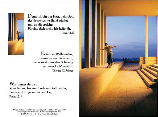 """Birnbacher Karten: """"Skater"""" - Jesaja 41,13"""