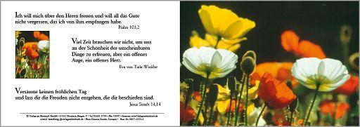 Bibelspruchkarte: Jesus Sirach 14,14