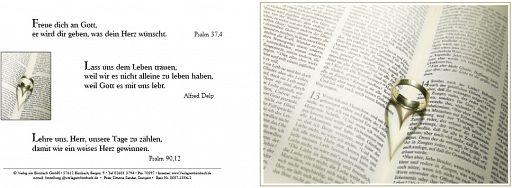 """Birnbacher Karten: """"Ring"""" - Psalm 37,4"""