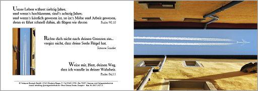 """Birnbacher Karten: """"Fliegen"""" - Psalm 90,10"""