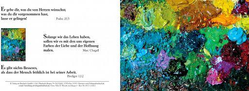 Bibelspruchkarte: Farbpalette