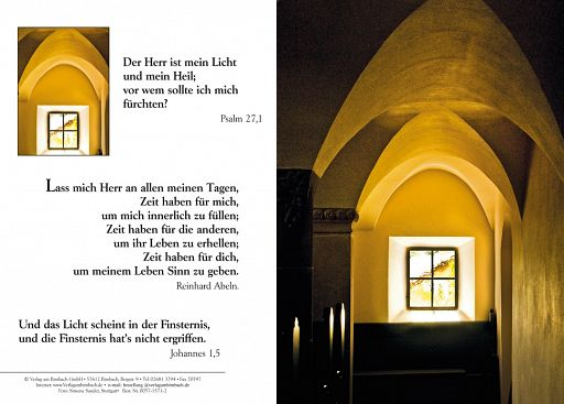 Bibelspruchkarte: Kirchenfenster
