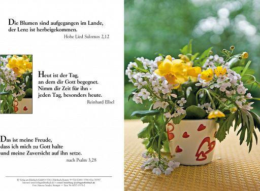 Bibelspruchkarte: Blumenvase