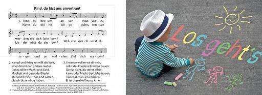 Bibelspruchkarte: Kind, du bist uns anvertraut