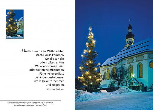 Weihnachtskarte Kirche, Charles Dickens kaufen