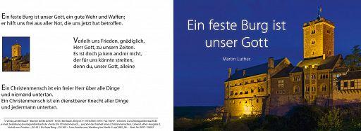 Bibelspruchkarte: Eine feste Burg ist unser Gott, Luther