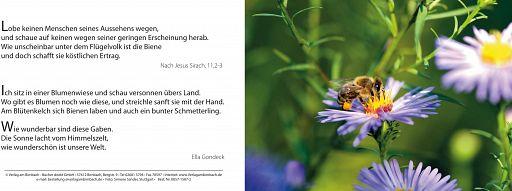 Bibelspruchkarte: Biene