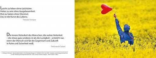 Bibelspruchkarte: Herzballon, Heiterkeit