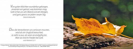 Bibelspruchkarte Bonhoeffer, Ewigkeitssonntag - mit Einlegeblatt