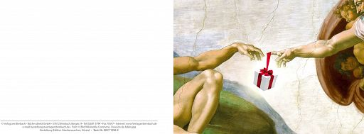 Bibelspruchkarte: Michelangelo Beschenkung
