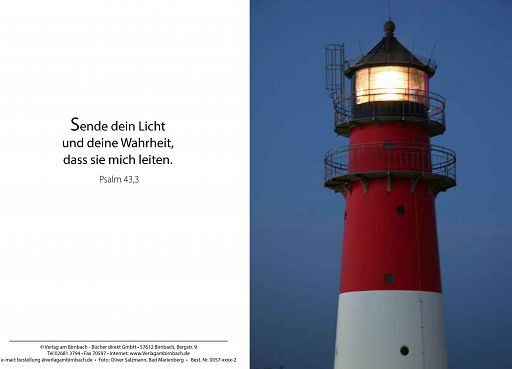 Bibelspruchkarte: Leuchtturm