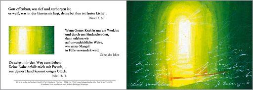 "Kunstkarte Bahlinger ""Licht zum Leben"" Klappkarte"