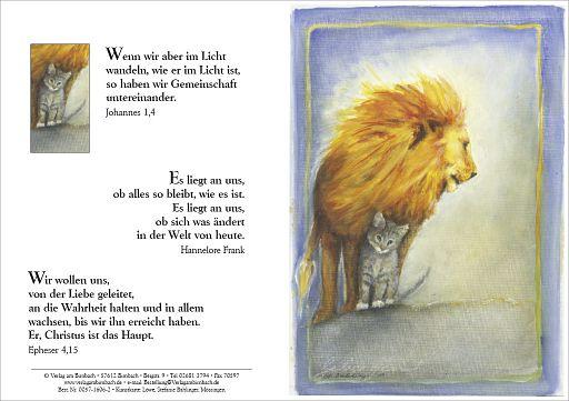 Klappkarte Bahlinger - Löwe