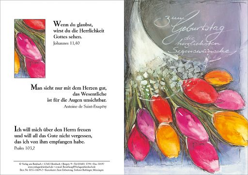 Faltkarte Bahlinger - Zum Geburtstag