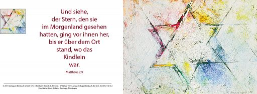 Faltkarte Bahlinger - Weihnachtsstern