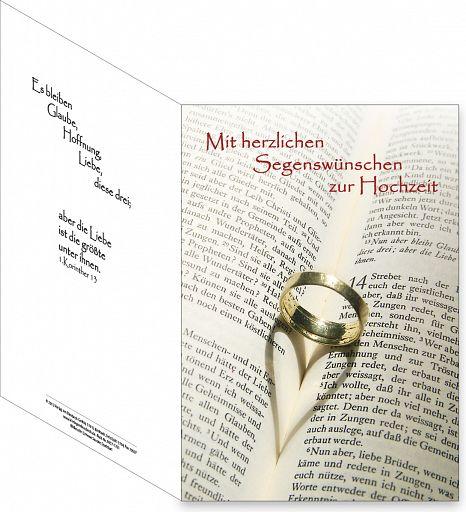 Umschlagkarte, Faltmappe - Trauung