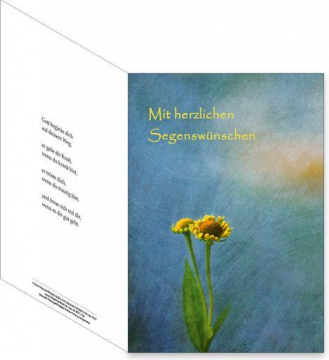 Umschlagkarte, Faltmappe - Segen
