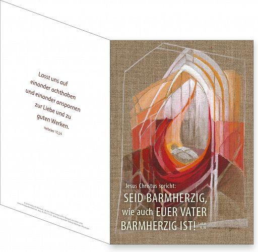 Umschlagkarte, Faltmappe - Jahreslosung 2021