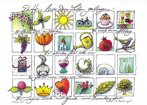 """Faltkarte """"Segensbild I"""" Leben gelingen"""