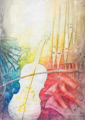 """Edition Bahlinger """"Symphonie II"""" Klappkarte DIN A6"""