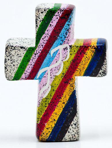 Kreuz aus Speckstein, African Summer 1 - fair produziert