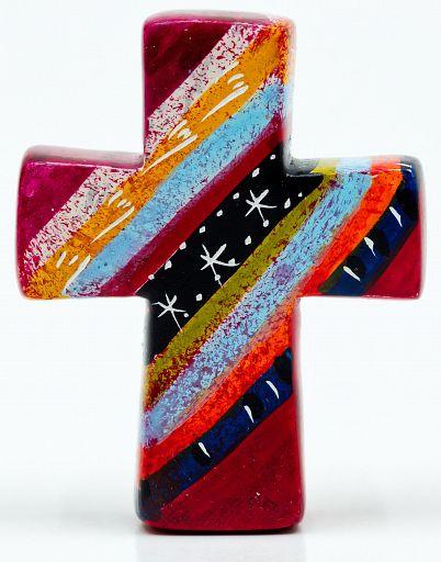Kreuz aus Speckstein, African Summer 2 - fair produziert