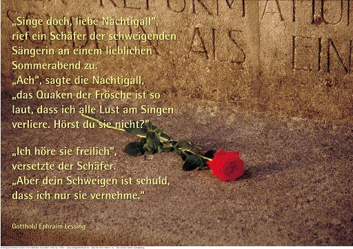 """Schaukastenposter 14 """"Rose und Nachtigall"""""""
