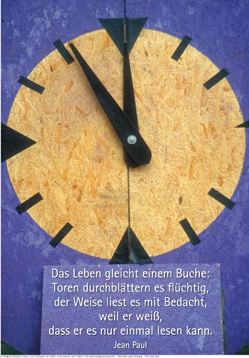 """Schaukastenposter 26 """"Lebenszeit"""""""