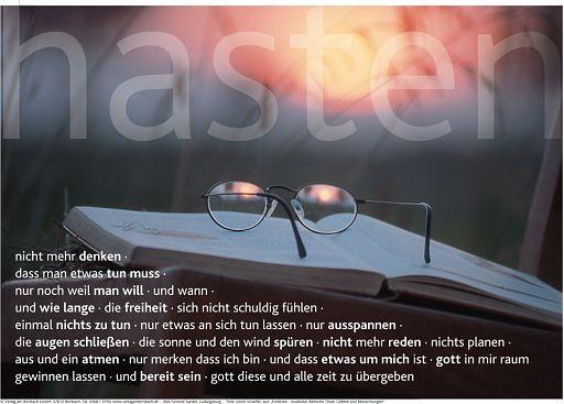 """Schaukastenposter 34 """"Abendstimmung (hasten)"""""""