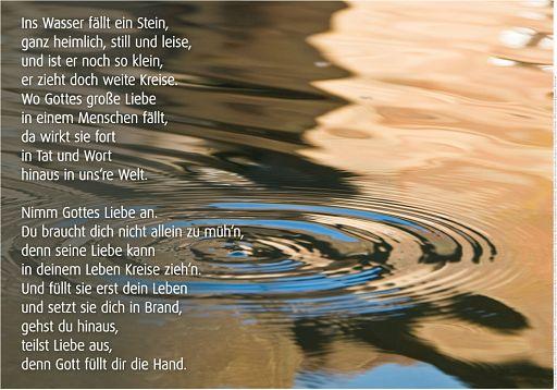 """Schaukastenposter 62 """"Kreise im Wasser"""""""