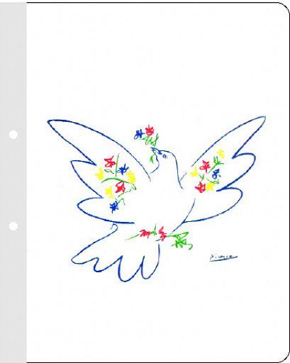 KU-Schnellhefter mit Aufklebern (reformiert), Picasso Taube