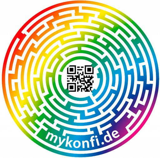 myKonfi Aufkleber Spot, Reiseaufkleber