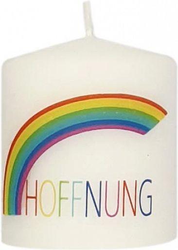 Hoffnungskerze - Regenbogen