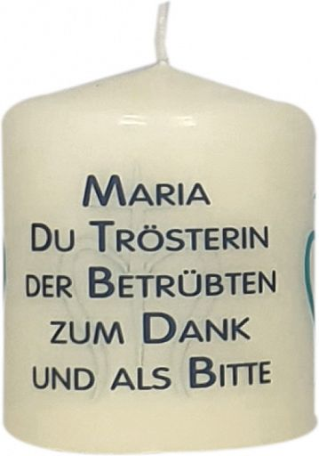 50erSet Stumpenkerze - Maria du Trösterin