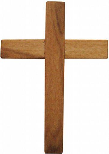 HolzKreuz aus Olivenbaumholz, einfach