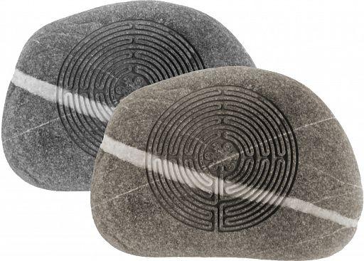Gravur-Stein Labyrinth des Lebens, eingraviert