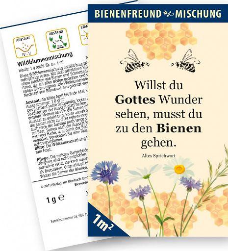 Samenmischung - Bienenfreund mit Wildblumen